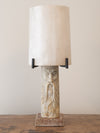 CARVED ALABASTER TABLE LAMP