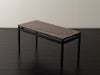 STONE INLAID COFFEE TABLE IN THE MANNER OF ADO CHALE