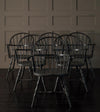 Set of 6 Steel Windsor Arm Chairs