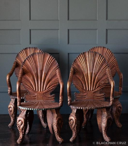 Set of Four Grotto Arm Chairs