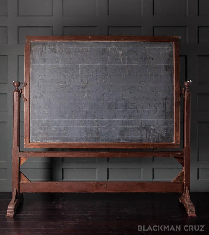 School Double Chalkboard