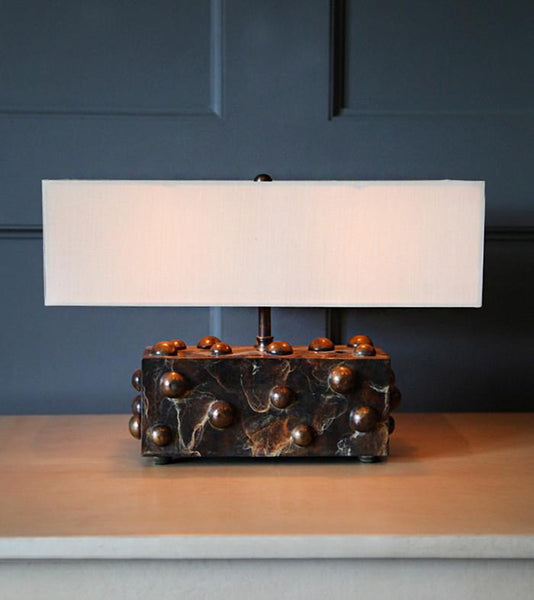 Studded Table Lamp, Small Horizontal