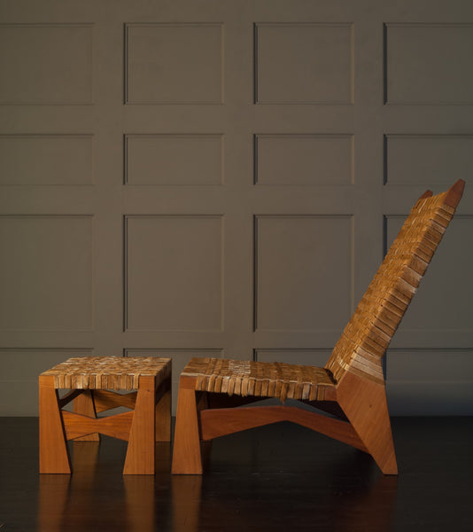 CHAIR AND OTTOMAN by Thierry Jeannot