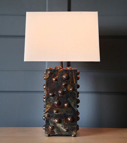 Studded Table Lamp, Vertical