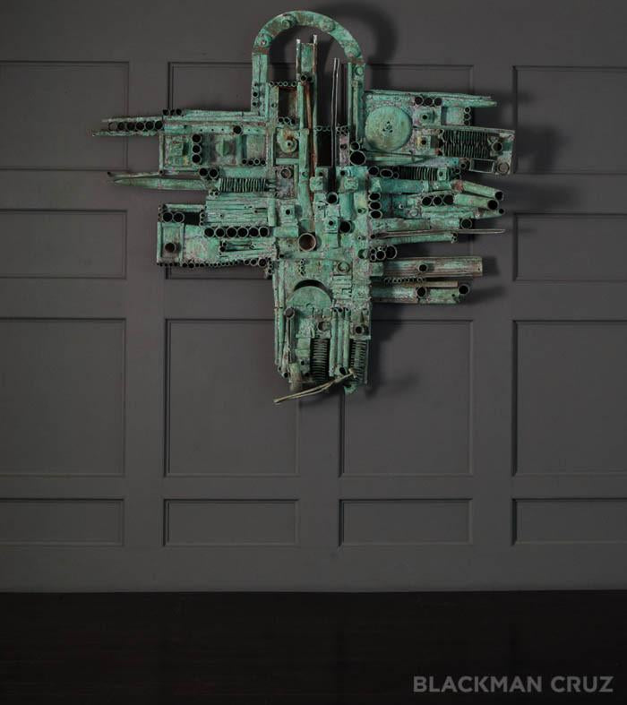 Verdigrised Industrial Sculpture