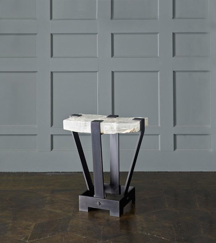 Selenite Ice Side Table, Black