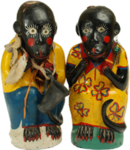 Vintage Ceramic Chango's - Mezcal Monkeys. Oaxaca.