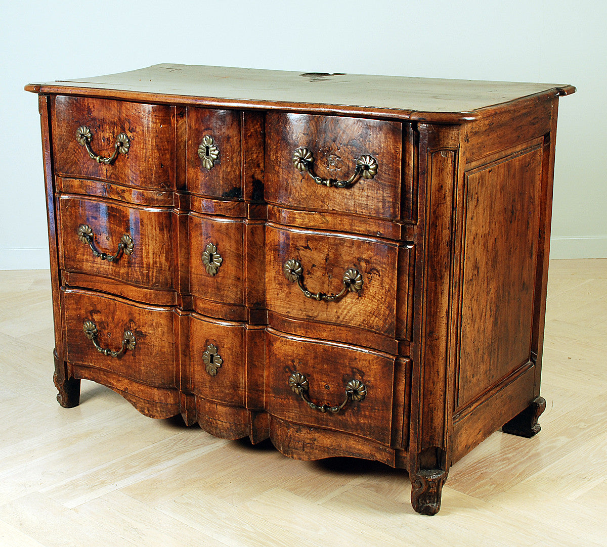 Louis Xv Walnut Commode Colonial Arts
