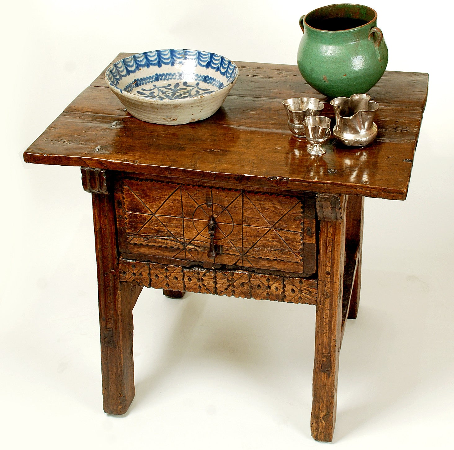 Spanish Chestnut Side Table