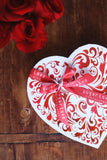 Large Red Swirl Heart Box