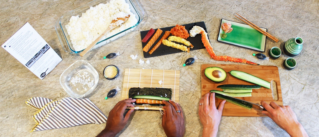 Homemade Sushi rolls recipes How To global grub