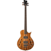 Warwick Custom Shop Starbass Single Cut 4-String Bass, Natural, Tigerwood