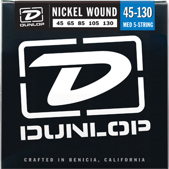 Dunlop Nickel Plated Steel Medium 5-130 Bass Strings