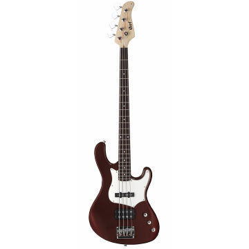 Cort GB Series GB34A 4-String Electric Bass Guitar, Walnut Satin