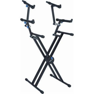 Quik Lok QL-723 Double Braced 3 Tier Keyboard Stand