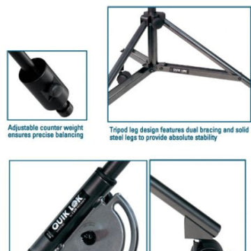 Quik Lok A-50AM Studio Boom Stand with Casters Adjustable Height