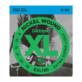 D'Addario XL Nickel Round Wound Extra-Super Light Electric Guitar Strings EXL130