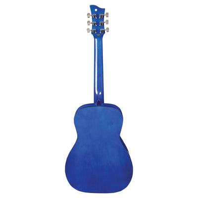 Jay Turser JJ43F 3/4 Size Flame Top Acoustic Guitar, Blue Sunburst - 3