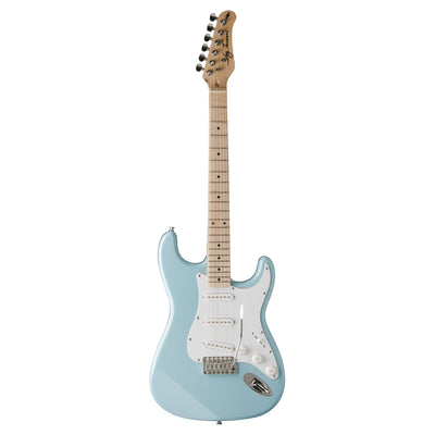 Jay Turser JT-300M Electric Guitar, Daphne Blue - 1
