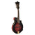 Washburn M3SWETWRK Florentine Electric Mandolin w/ Case, Transparent Wine Red