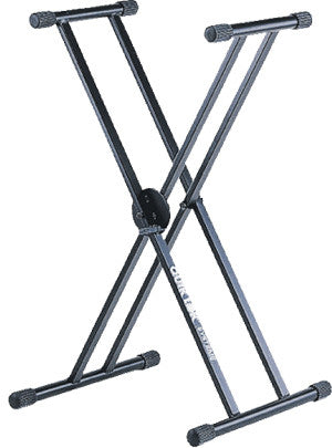 Quik Lok QL-646 Keyboard Stand double Braced Double Tier Black