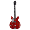 Hagstrom Super Viking Electric Guitar, Wild Cherry Transparent, Left Handed - 1