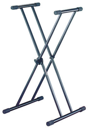 Quik Lok T-20BK Single-Tier Double-Braced X Style Keyboard Stand
