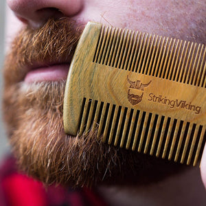 boar hair beard brush with wooden handle