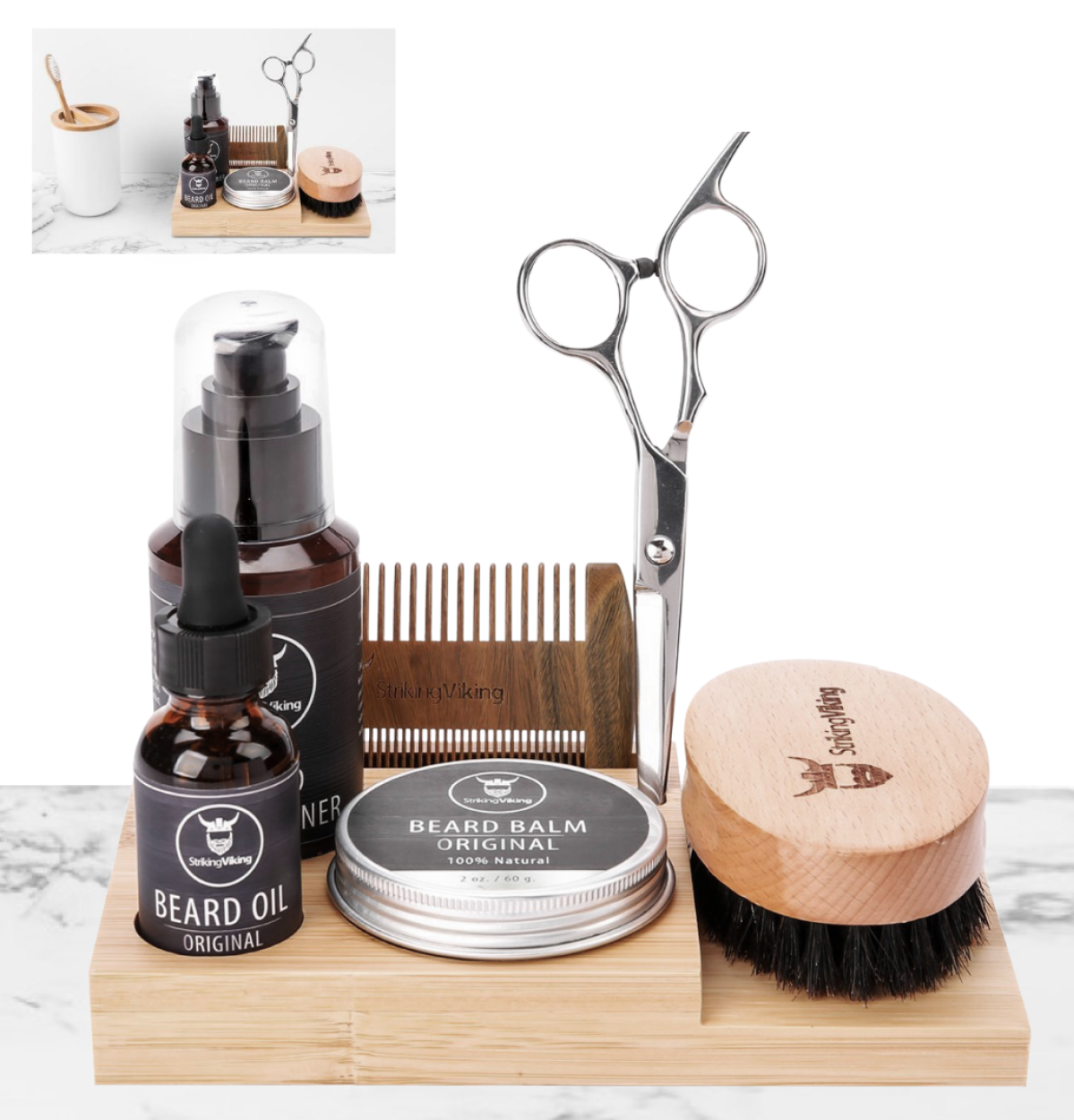 Wooden Beard Care Caddy