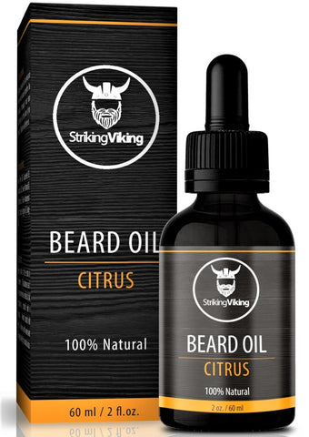 striking viking citrus beard oil for men