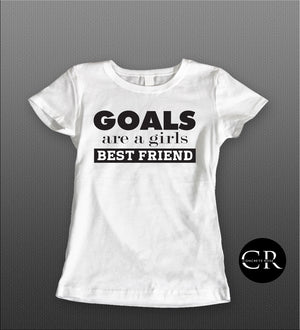 Goals Are A Girls Best Friend Tee - Concrete Rose Boutique