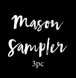 3pc Mini Mason Sampler