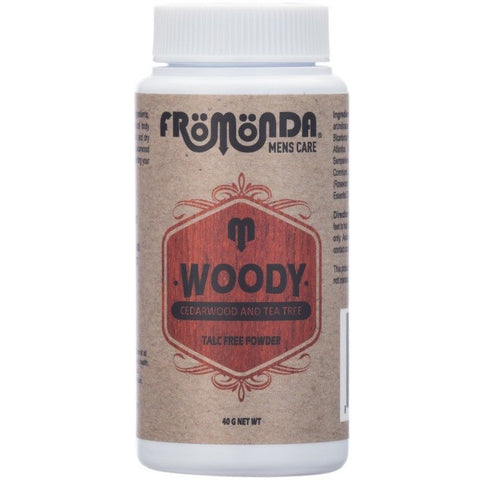 Fromonda Woody travel size talc free powder