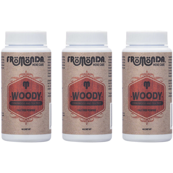 Woody Powder Travel Size 3 Pack 40g each - Fromonda