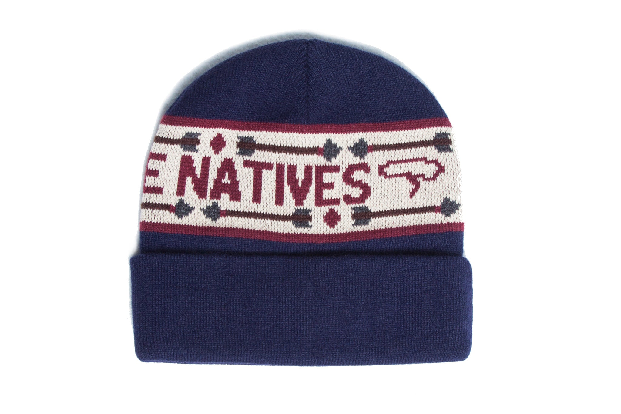 RESPECT THE NATIVES Beanie Navy