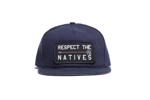 RESPECT THE NATIVES II Snapback Navy