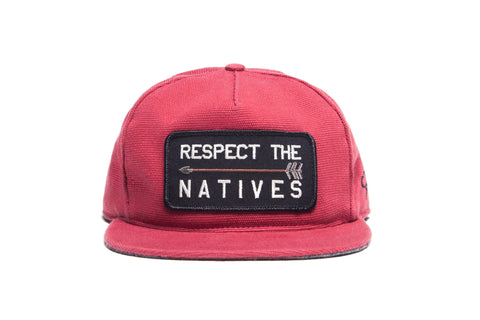 RESPECT THE NATIVES II Snapback Brick
