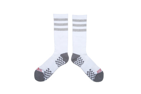 STRIPES Socks - Heather Grey