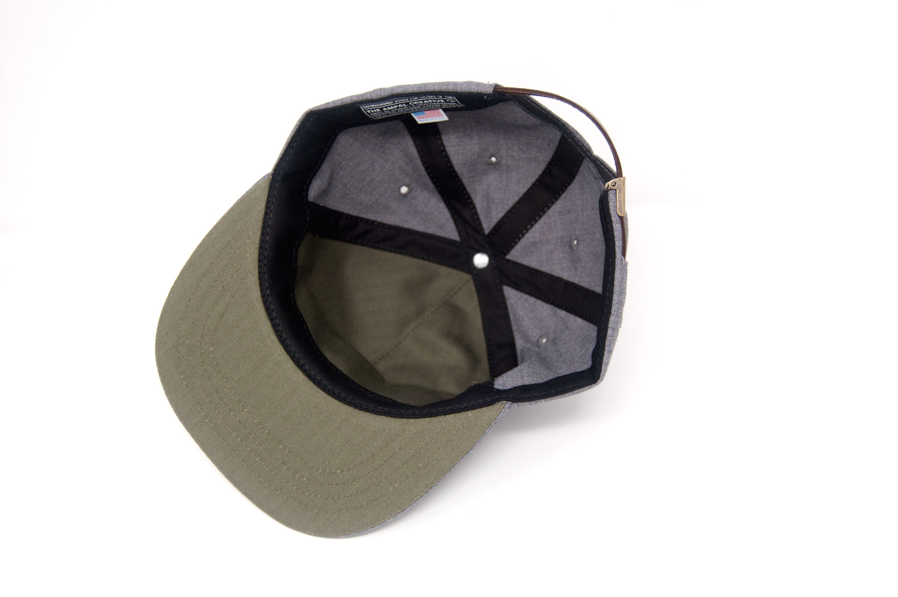 GONE FISHIN' Pennant Strapback - Charcoal
