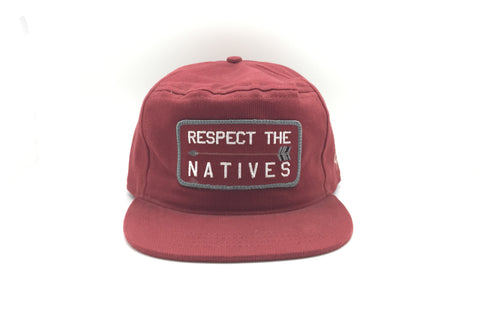 RESPECT THE NATIVES Snapback Brick
