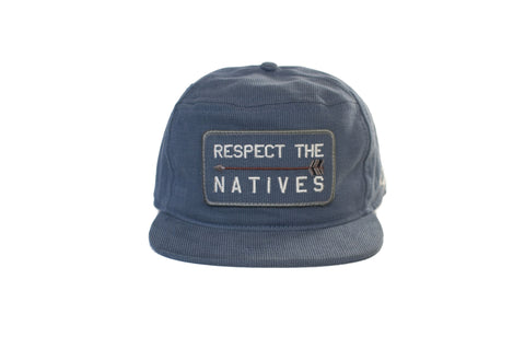 RESPECT THE NATIVES Snapback Blue