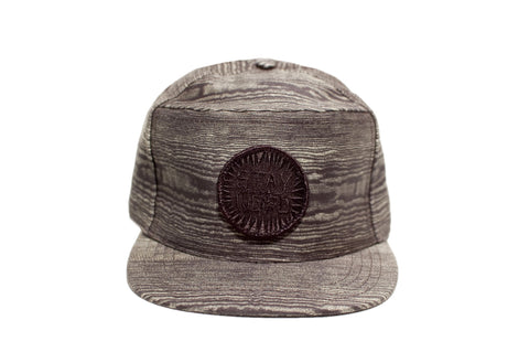 STAY WEIRD Snapback Wood