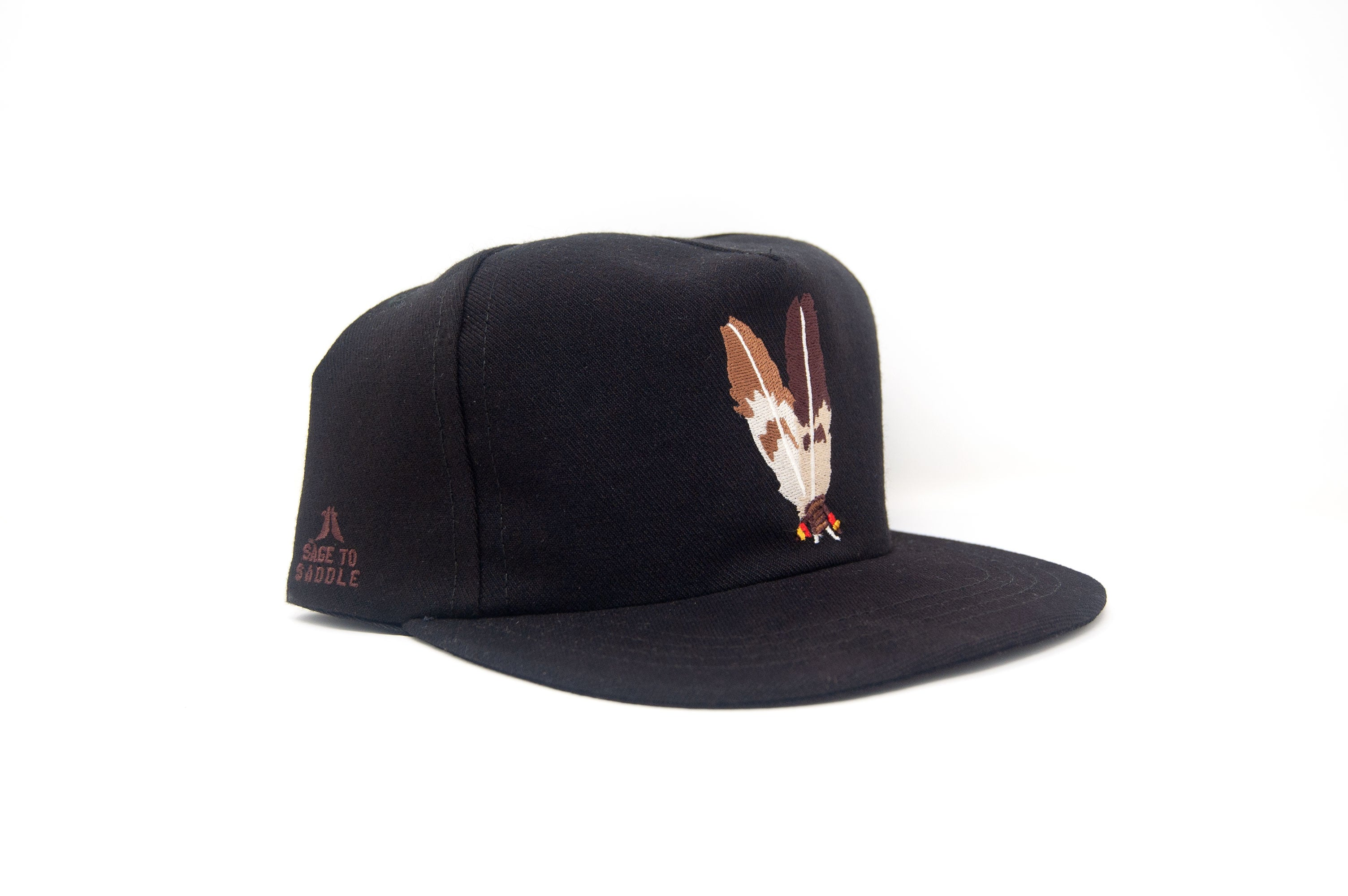 "Ampal x Sage to Saddle ""TWO FEATHERS""  Strapback"