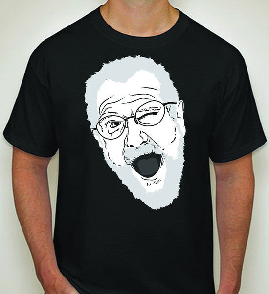 """Angry Grandpa Face"" - T-Shirt (Black)"