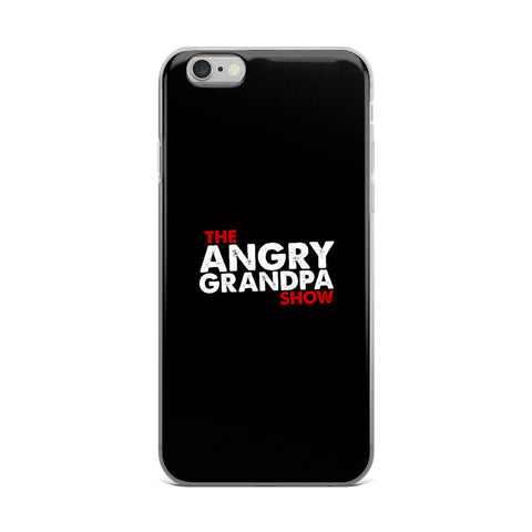 The Angry Grandpa Show - iPhone 5/5s/Se, 6/6s, 6/6s Plus Case (Black)