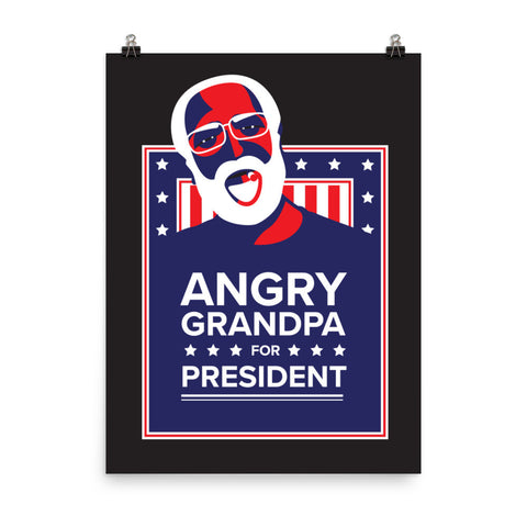"""Angry Grandpa for President"" - Posters"