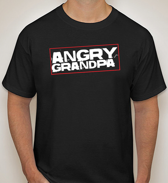 "Original ""Angry Grandpa"" - T-Shirt (Black)"