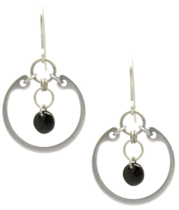 Circle Earrings (Medium) (Industrial Glass Collection)