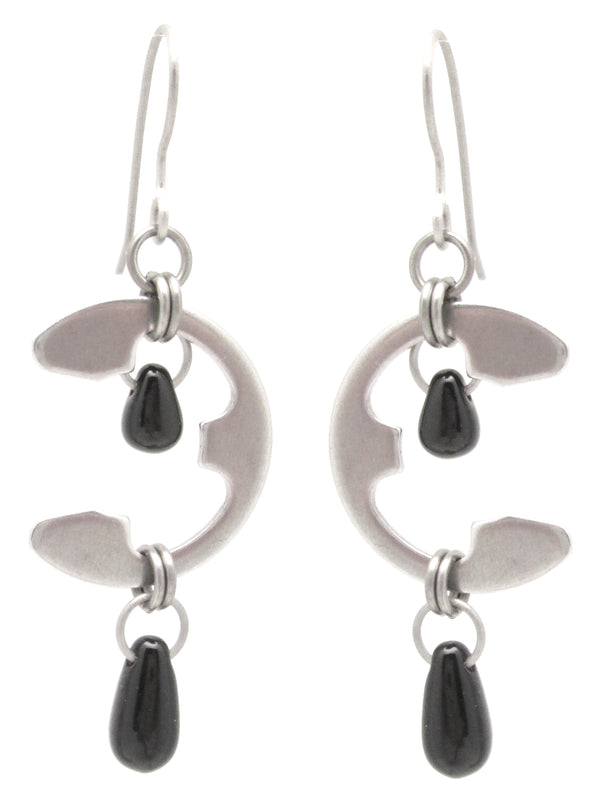 Moon Earrings (Large) (Industrial Glass Collection)