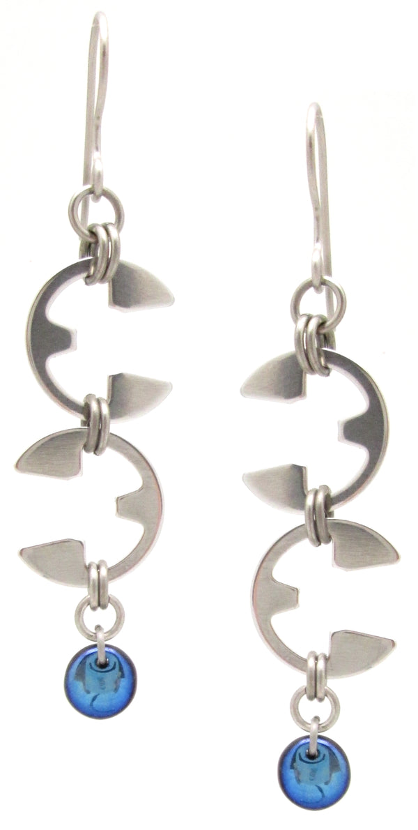 Vine Earrings (Industrial Glass Collection)